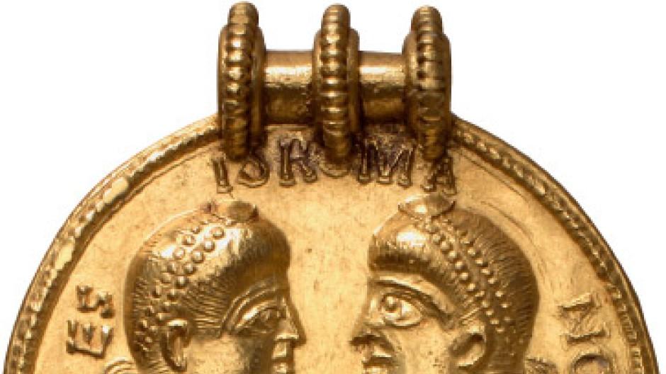 Alte römische Goldmünze
