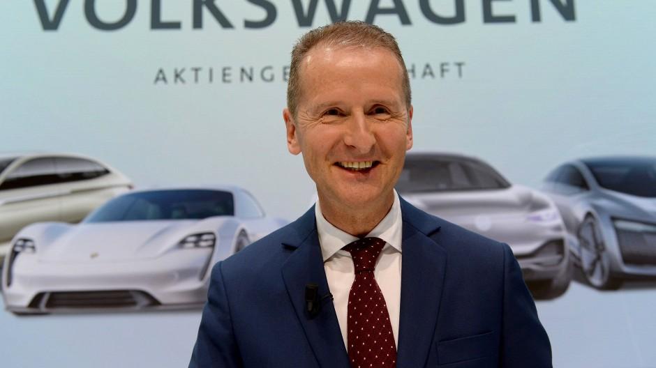 Herbert Diess, Vorstandsvorsitzender von Volkswagen