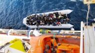 Diskussion um Flüchtlingspolitik