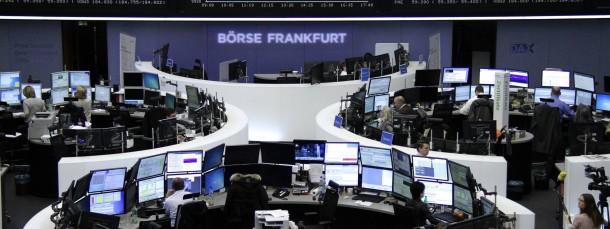 Blick auf die Dax-Kurstafel an der Frankfurter Wertpapierbörse