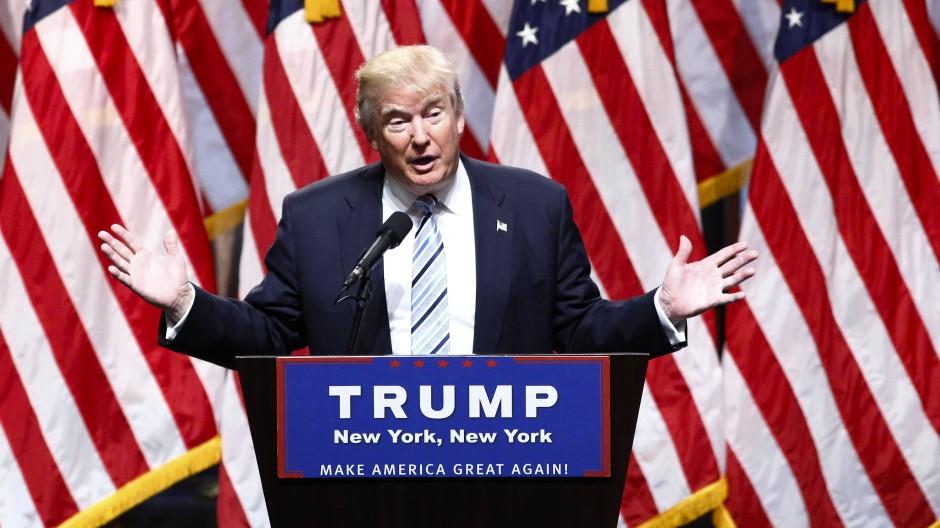 Trump bei seiner jüngsten Pressekonferenz in New York