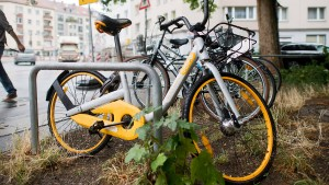 In den Städten werden Leihfahrräder zum Problem