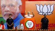 Die Wiederwahl von Indiens Ministerpräsident Narendra Modi ist nicht sicher.