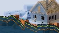 Die Bauzinsen sinken und sinken, doch die Hauspreise steigen in vielen Lagen