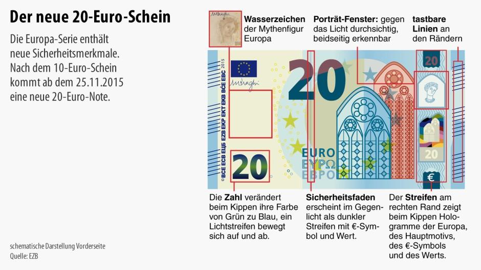 neuer 20 euro schein ist f lschungssicherer als der alte. Black Bedroom Furniture Sets. Home Design Ideas