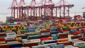 Chinas Importe aus Amerika fallen