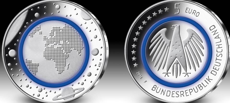 Weltneuheit In Karlsruhe Erste Münze Mit Kunststoffanteil