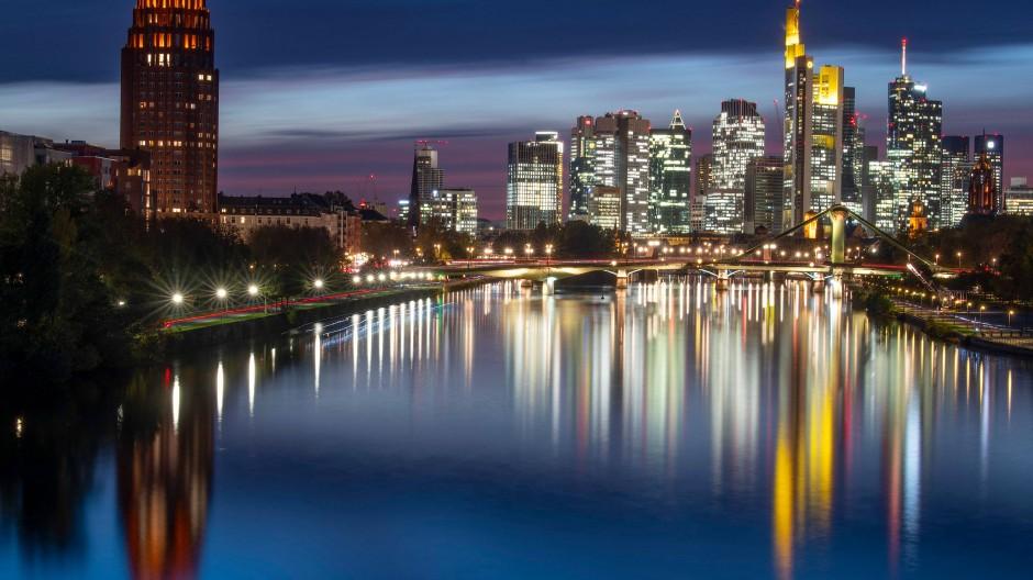 Hochhäuser in der Finanzmetropole Frankfurt