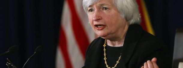 Präsidentin der amerikanischen Zentralbank Janet Yellen bei der Fed-Pressekonferenz am Donnerstag in Washington.
