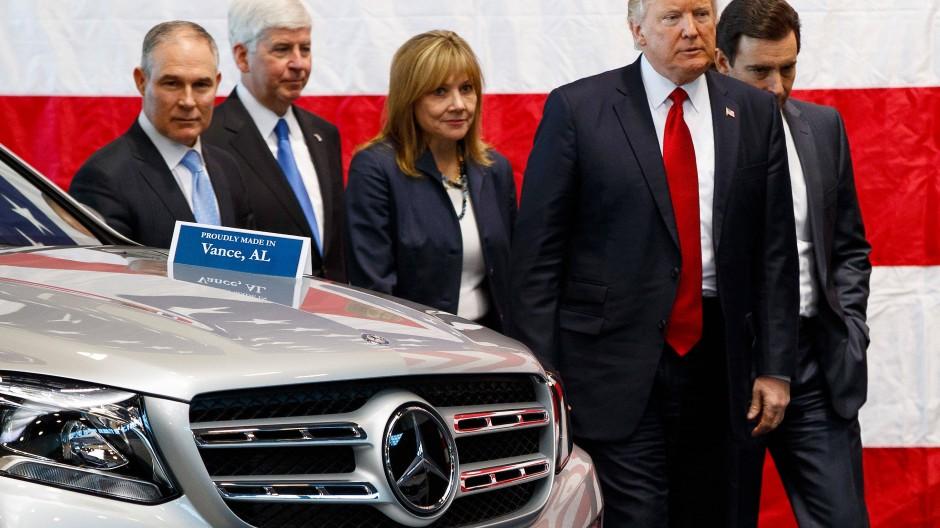 Dieser Mercedes wurde in den Vereinigten Staaten gebaut. Doch Amerika droht mit Sonderzöllen auf in Deutschland hergestellte Autos.