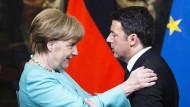 Merkel zu Besuch bei Italiens Premier Renzi
