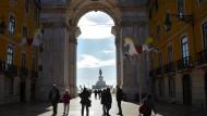Der Aufschwung kam nicht wie erhofft: Einkaufsstraße in Lissabon.