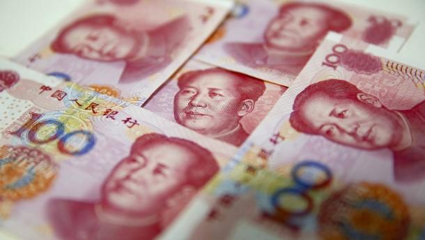 Chinas Notenbank erhöht Zinsen am Geldmarkt