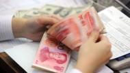 Erstmals seit fünf Monaten legten die Devisenreserven Chinas leicht zu