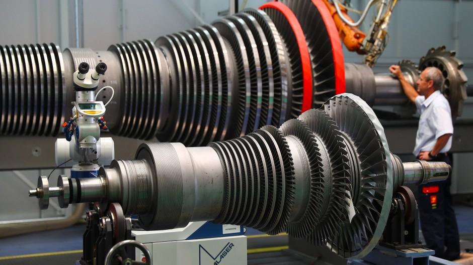 Antrieb für die Börse: Dampfturbine während einer Wartung im Siemens-Werk Nürnberg.