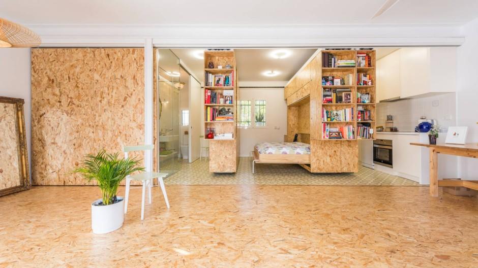 Architekturbüro PKMN entwirft Küche mit mobilen Wänden