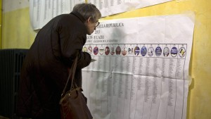 Italian general elections - voting