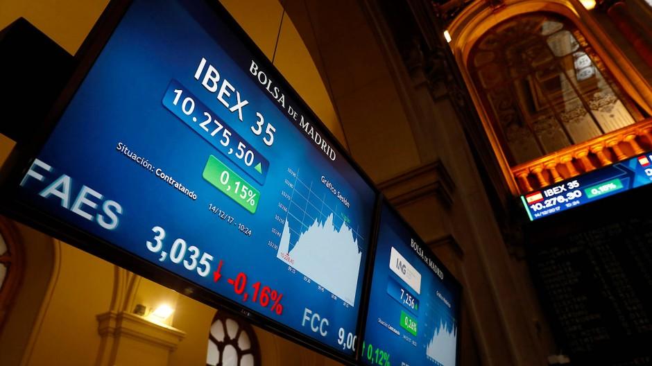 Die Börse in Madrid.