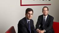 Die Gründer von Burford Capital im Jahr 2012