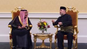 Der König auf Geschäftsreise in Asien