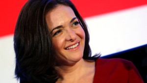 Facebook COO Sandberg smiles at the Iab Mixx Conference and Expo in New York