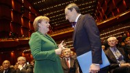 Draghi bei Merkel