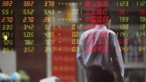 Kursrutsch an Chinas Börsen