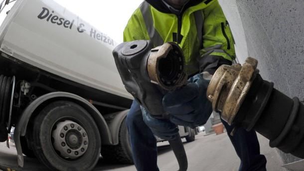 Der Preis für Heizöl verdoppelt sich nahezu