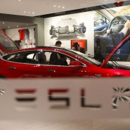 Der Tesla-Showroom in Beijing