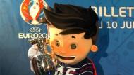 """Das Maskottchen """"Super Victor"""" der Fußball EM 2016"""