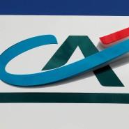 Markenzeichen der Großbank Crédit Agricole