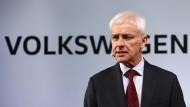VW-Chef Matthias Müller bittet in Amerika um Entschuldigung.