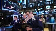 An der New Yorker Wall Street warten Händler diese Woche auf wichtige Bilanzen.