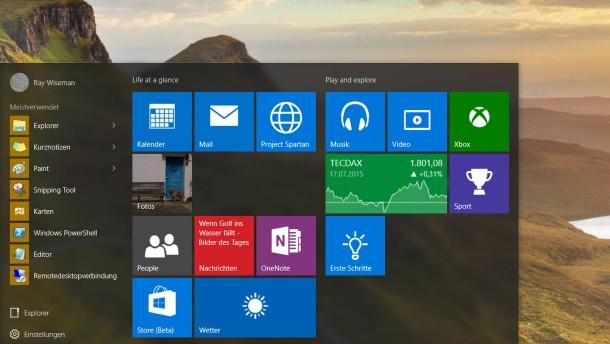 Ab heute heißt es Windows 10