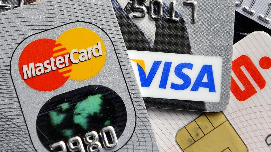 Bankkarten und Kreditkarten mit Chip