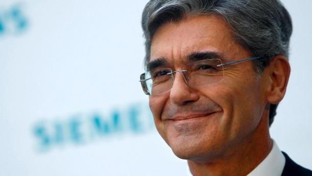 Siemens-Chef Kaeser geht in die Offensive