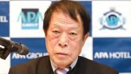 Toshio Motoya, Chef der Hotelkette APA, gilt als strammer Rechtsnationalist.
