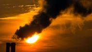 Emissionen eines Blockheizkraftwerks in Frankfurt