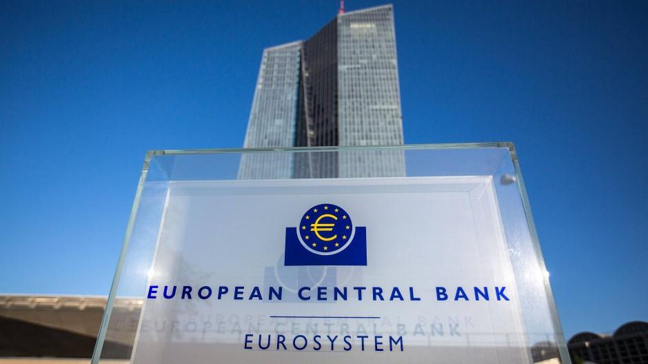 Die EZB-Zentrale in Frankfurt.