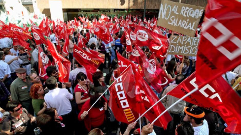 Sparpaket: Spanier zornig, Finanzmärkte ruhig