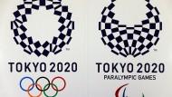 Die offiziellen Logos der Olympischen und Paralympischen Spiele 2020 in Tokio.