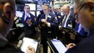 Börsenhändler an der New Yorker Börse. Amerikas Internetaktien sind weiterhin sehr beliebt unter den Anlegern.
