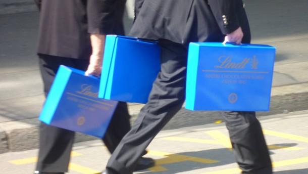 Ein Koffer voller Schokolade