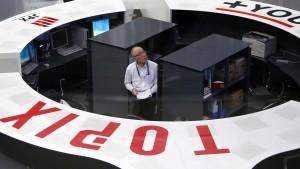 Nikkei in fünf Jahren auf Allzeithoch