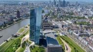 Die EZB-Türme in Frankfurt