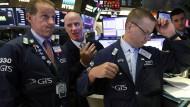 Warnsignal vom Anleihemarkt – Händler an der New Yorker Börse
