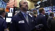 Ein Händler an der New Yorker Börse