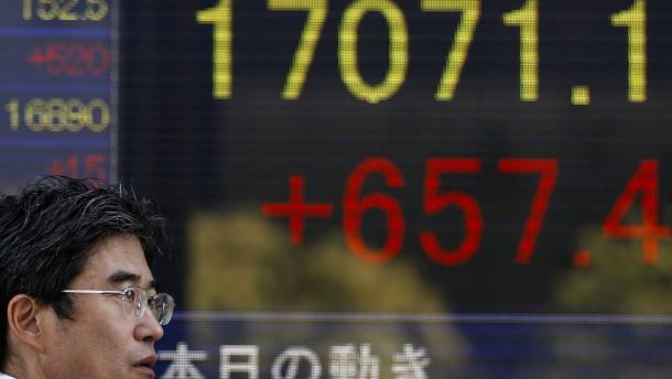 Nikkei erstmals seit sieben Jahren über 17.000 Punkten