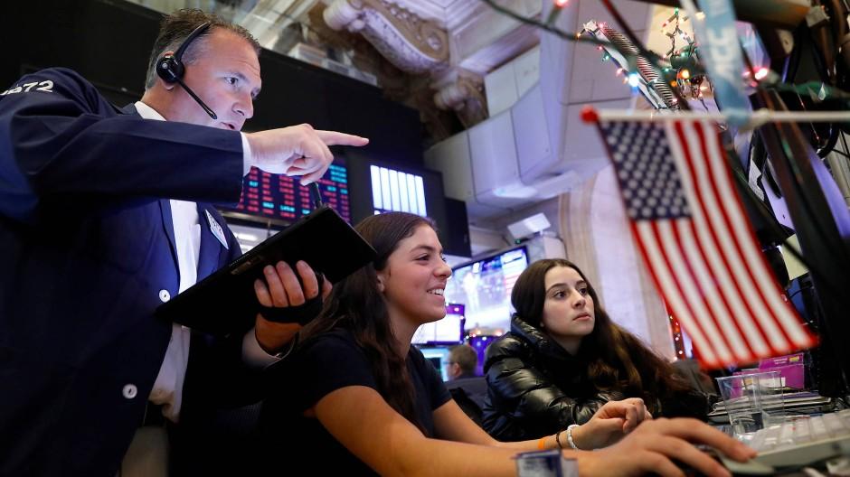 Die Stimmung an der New Yorker Börse ist gut, Experten erwarten ein gutes Aktienjahr 2020.
