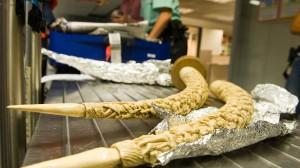 Schnitzereien aus Elfenbein wie hier am Frankfurter Flughafen sichergestellt dürfen nicht nach Deutschland eingeführt werden.